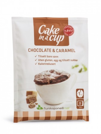 Cake in a cup- Chocolate & Caramel